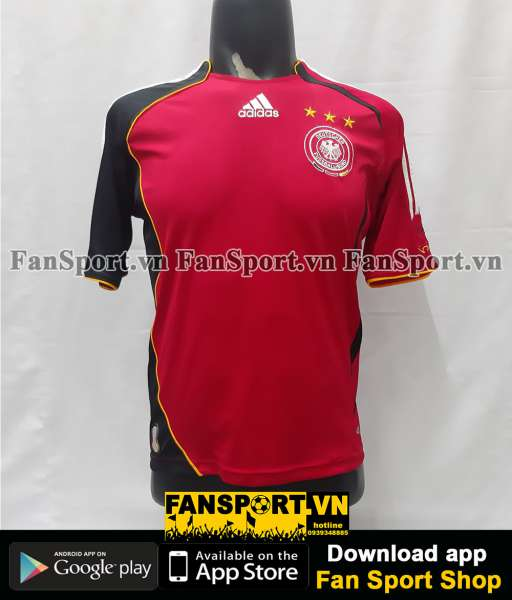 Áo đấu Germany 2006-2007-2008 away shirt jersey red World Cup