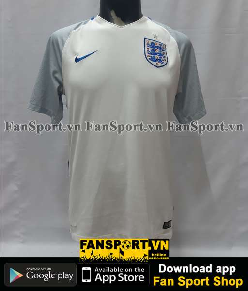 Áo đấu England 2016-2017-2018 home shirt jersey white Euro