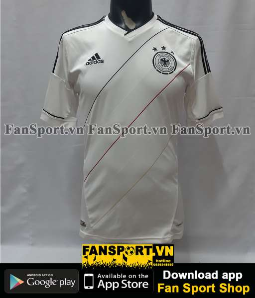 Áo đấu Germany 2012-2013-2014 home shirt jersey white Euro