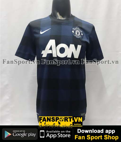 Áo đấu Manchester United 2013-2014 away shirt jersey blue