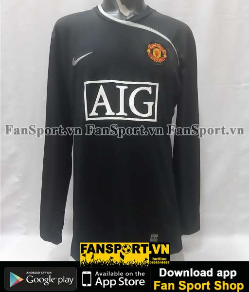 Áo thủ môn Manchester United 2008-2009 third goalkeeper black GK