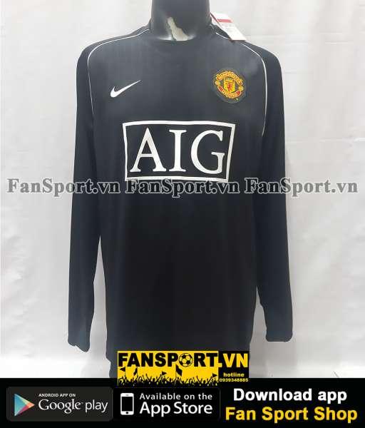 Áo thủ môn Manchester United 2007-2008 third goalkeeper black GK
