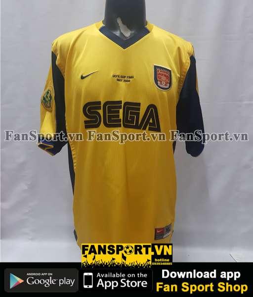 Áo đấu Henry 14 Arsenal UEFA Cup final 2000 away shirt jersey red 1999