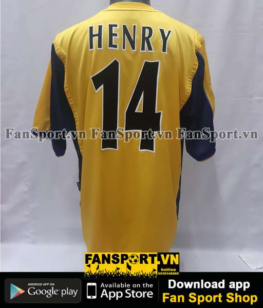 Áo đấu Henry 14 Arsenal UEFA Cup final 2000 away shirt jersey red 1999