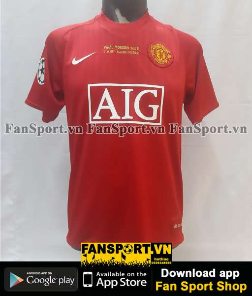 Áo Manchester United Champion league Final 2008 home shirt 2007-2009