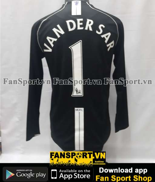 Áo Van Der Sar 1 Manchester United 2007-2008 third goalkeeper black GK