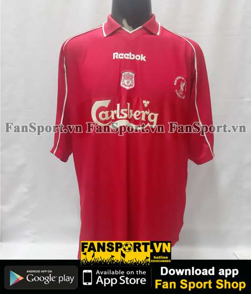 Áo đấu Liverpool League Cup final 2001 home shirt jersey red 2000 2002