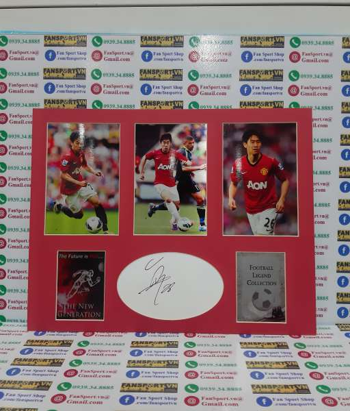 Ảnh chữ ký Shinji Kagawa Manchester united signed frame photo