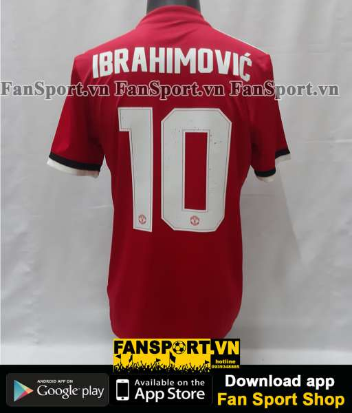 Áo Ibrahimovic 10 Manchester United 2017-2018 home shirt jersey red
