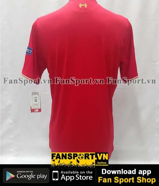 Áo Liverpool Europa League Final 2016 home shirt jersey red 2015 BNWT