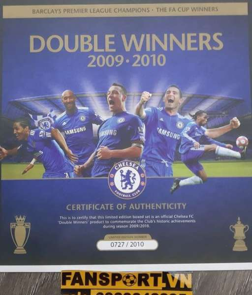 Box Chelsea Double Winner 2009-2020 Premier League FA Cup set shirt
