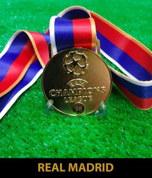 1998 Champion League Real Madrid gold medal final huy chương vô địch