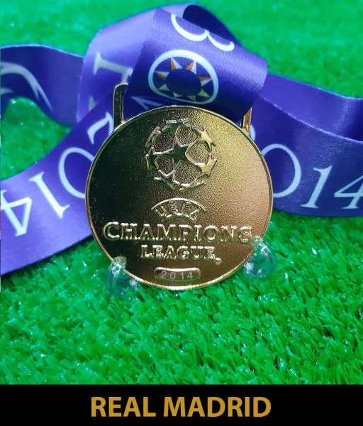 2014 Champion League Real Madrid gold medal final huy chương vô địch