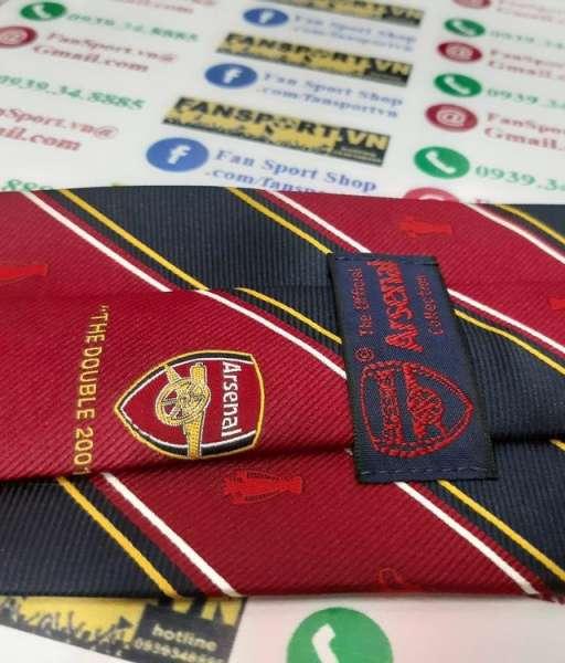 Cà vạt Arsenal Double 2001-2002 winner tie red