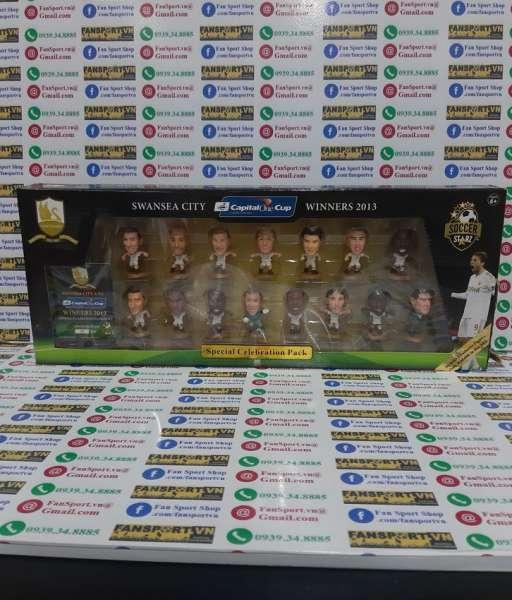 Bộ tượng Swansea City League Cup Winner 2012-2013 soccerstarz box set
