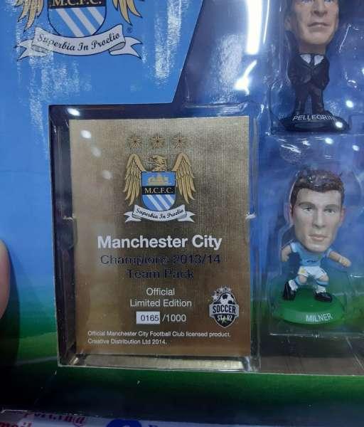 Bộ tượng Manchester City 2013-2014 Champions soccerstarz box set