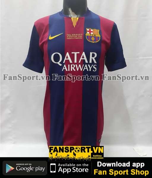 Áo Messi 10 Barcelona Champion League Final 2015 home shirt red 2014