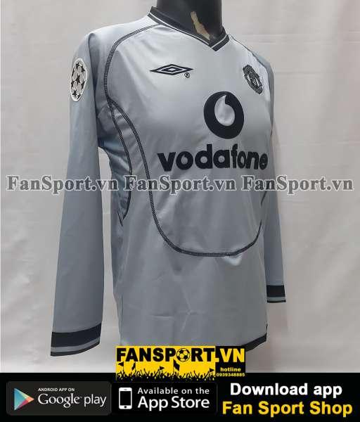 Áo Van Der Gouw 17 Manchester United 2000-2001 away shirt goalkeeper