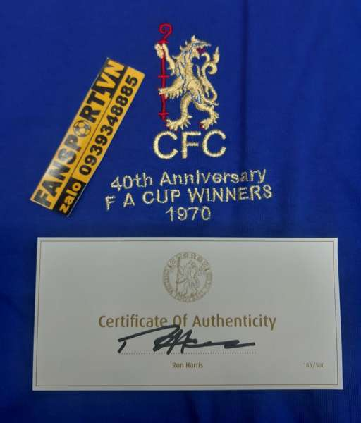 Box Chelsea 1970 FA Cup Winner 40th anniversary shirt jersey Harrís
