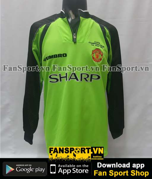Áo GK Schmeichel 1 ManUtd Champion League Final 1999 shirt goalkeeper