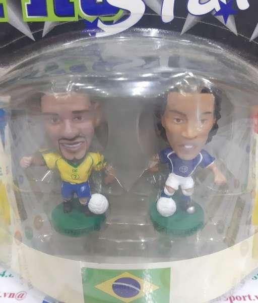 Tượng Adriano & Ronaldinho Brazil 2004-2006 home away corinthian