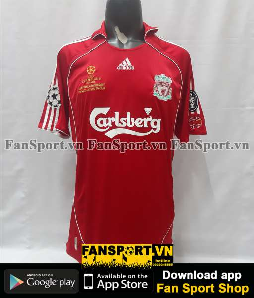 Áo Liverpool Champion League final 2007 home shirt jersey 2006 2008