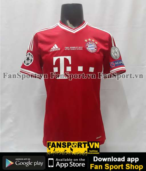 Áo Bayern Munich Champion League final 2013 home shirt jersey 2014 red
