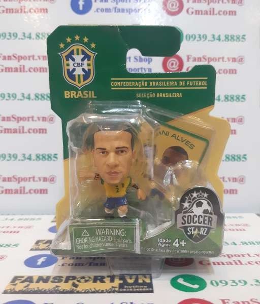 Tượng Daniel Alves 2 Brazil 2014-2016 soccerstarz home yellow figure