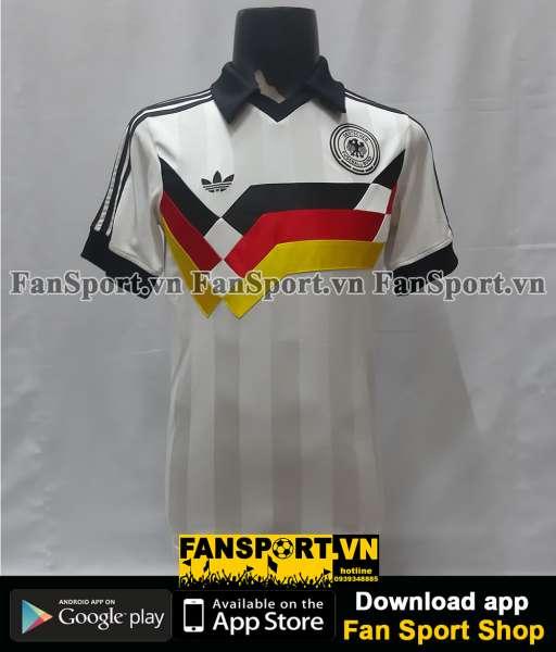 Áo đấu Germany 1988-1990 World Cup Euro home shirt jersey white