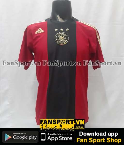 Áo đấu Germany 2008-2009 away shirt jersey red Euro