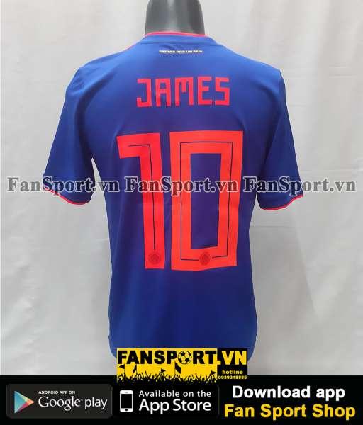 Áo đấu James 10 Colombia 2018-2019 away shirt jersey blue World Cup