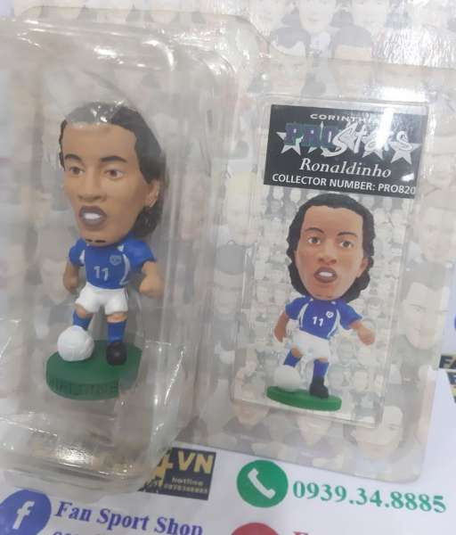 Tượng Ronaldinho 11 Brazil 2002-2004 away corinthian figures blue