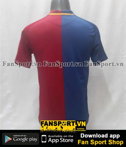 Áo đấu Barcelona 2008-2009 home shirt jersey red blue