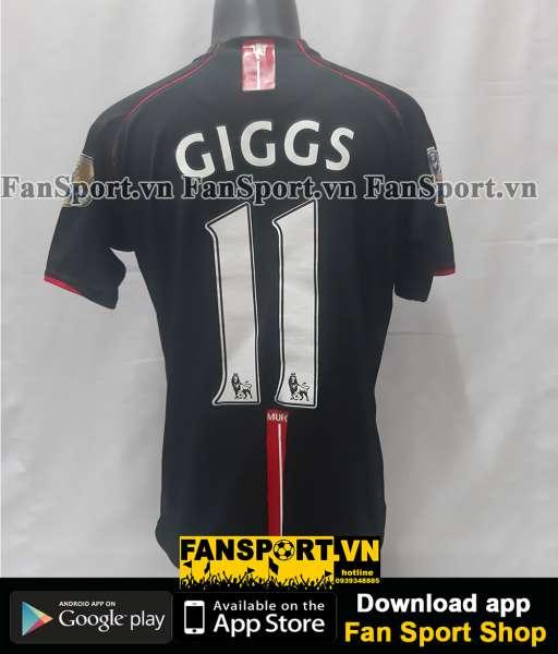 Áo đấu Giggs 11 Manchester United 2007-2008 away shirt jersey black