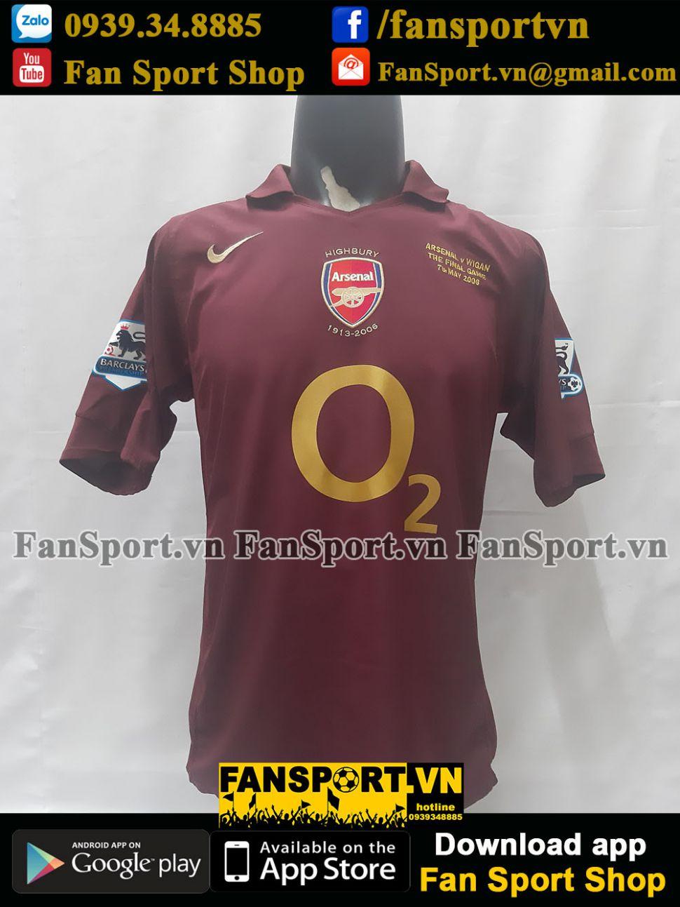 Áo Henry #14 Arsenal 2005-2006 home shirt Highbury Last match jersey