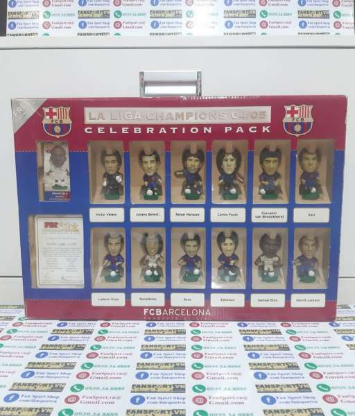 Box Barcelona La Liga Champions 2004-2005 Celebration corinthian 1485