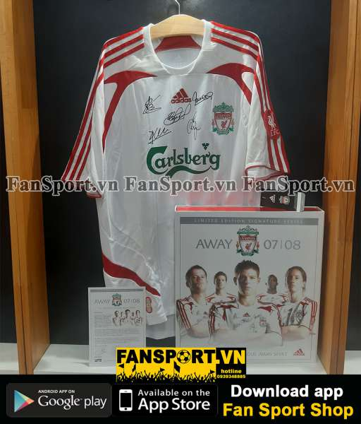 Box Liverpool 2007 away shirt Gerrard Carragher Alonso Torres Sissoko