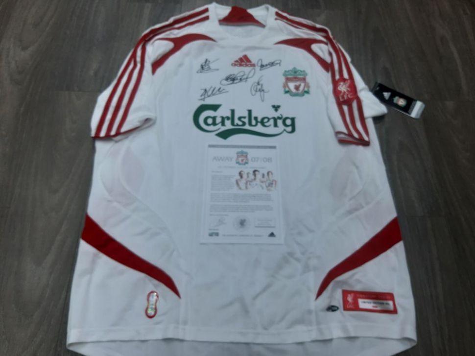 Box Liverpool 2007 away shirt Gerrard Carragher Alonso Torres Sissoko