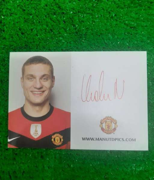Photo chữ ký Nemanja Vidic Manchester United 2009-2010 signed hand
