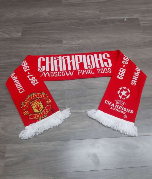 Scarf Manchester United Champion League winner 1968 1999 2008