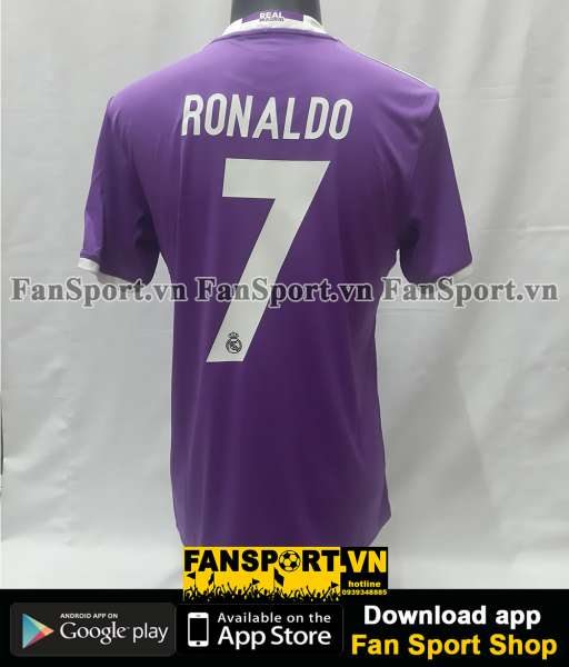 Áo Ronaldo 7 Real Madrid Champion League Final 2017 away shirt jersey