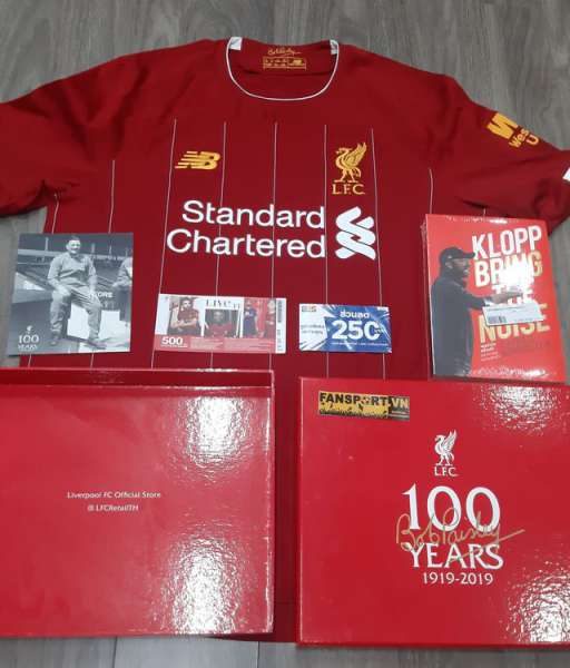 Box áo Liverpool Bob Paisley 100 years birthday 1919-2019 home shirt