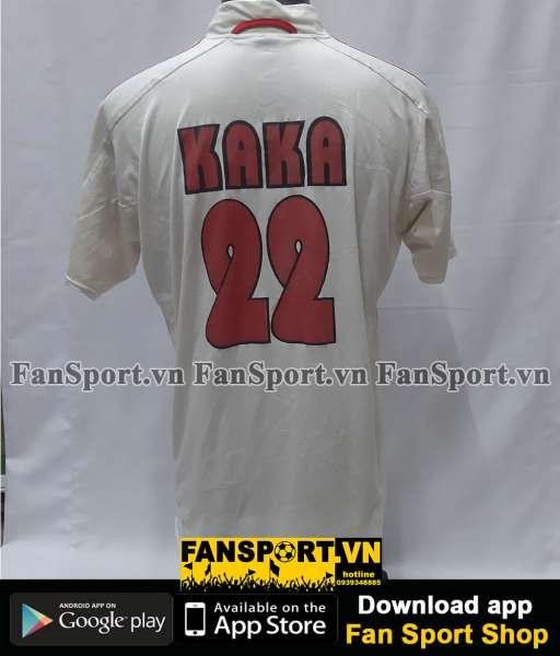 Áo đấu Kaka 22 AC Milan 2004-2005 away shirt jersey white