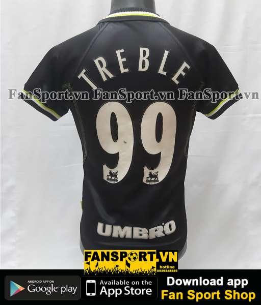 Áo đấu Treble 99 Manchester United 1998-1999 third shirt jersey black