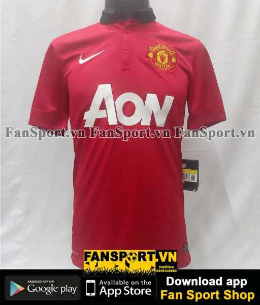 Áo đấu Manchester United 2013-2014 home shirt jersey red BNWT