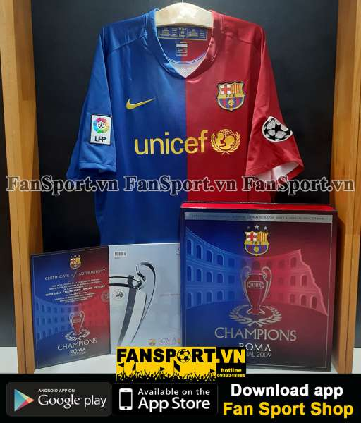 Box shirt Barcelona Champion League Winner 2009 jersey limited 0848
