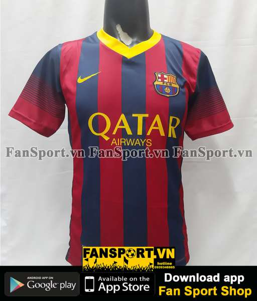 Áo đấu Messi 10 Barcelona 2010-2011 home shirt jersey red blue