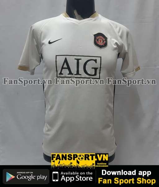 Áo đấu Manchester United 2006-2007-2008 away third shirt jersey white