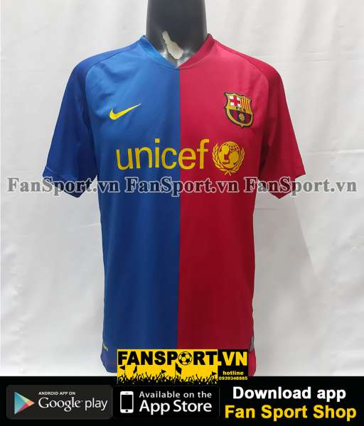 Áo đấu Eto'o 9 Barcelona 2008-2009 home shirt jersey red blue