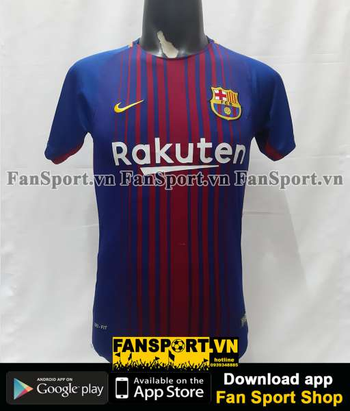 Áo đấu Neymar 11 Barcelona 2017-2018 home shirt jersey red blue